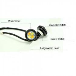 Kartal Gözü Gündüz Farı Eagle Eye LED Turuncu Beyaz 23MM ( 2 Adet )