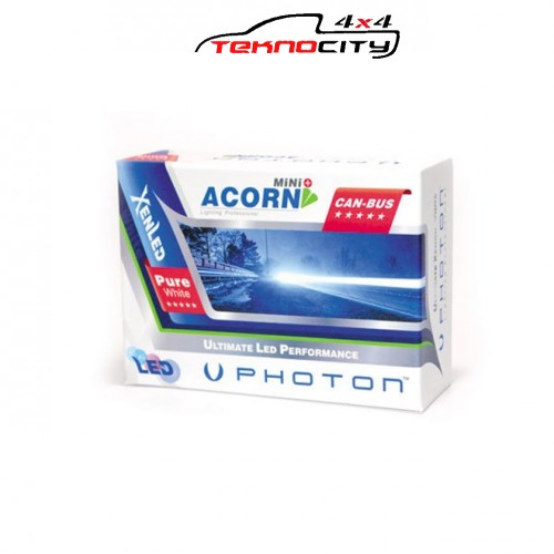 PHOTON ACORN 5000 LÜMENS LED HEADLİGHT (far ledi ) H 3 6000 K (ICE WHITE-BUZ BEYAZI )