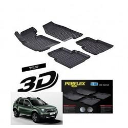 Dacia Sandero 2014+  3D TPE Kauçuk 3D Paspas Perflex