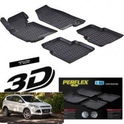Ford Kuga 2015 + 3D TPE Kauçuk 3D Paspas Perflex