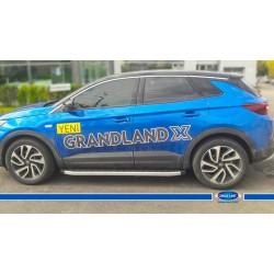 Opel Grandland X Yan Koruma Blackline Aluminyum 2017 ve Sonrası