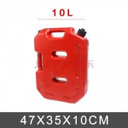 Kırmızı Plastik Benzin Bidonu 10 LT
