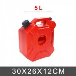 Kırmızı Plastik Benzin Bidonu 5 LT